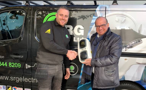Star of Dragon's Den chooses SRG Electrical to install their EV solution.